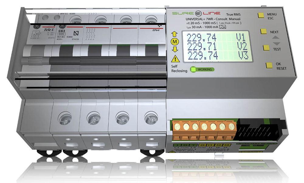 Unidad universal de protección y análisis de redes con diferencial Clase B para cargadores de vehículos eléctricos