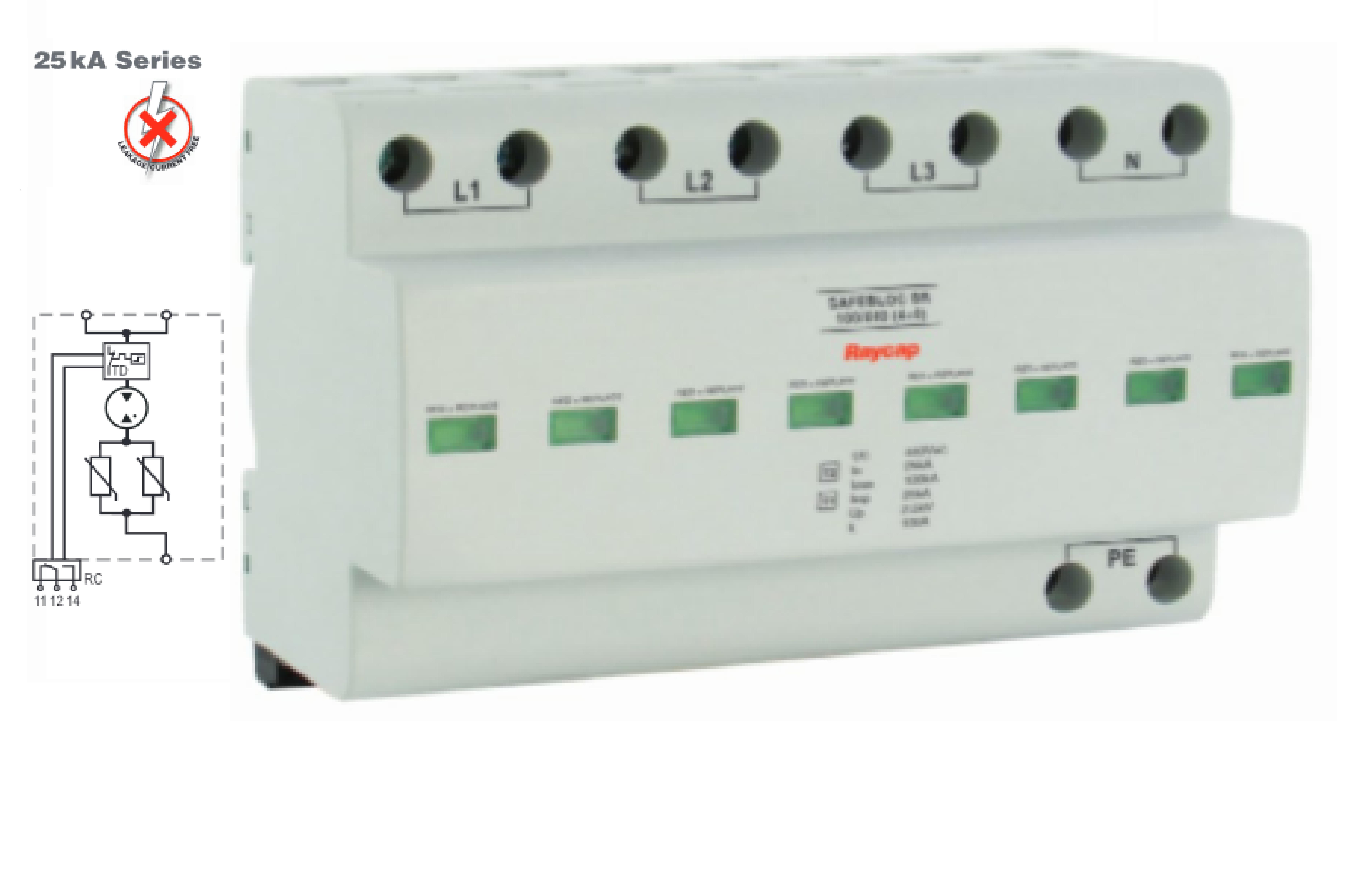 SafeBloc B(R) 440Vac, 25kA y 12,5kA